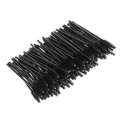 Lot de 100 brosses à cils jetables Noir