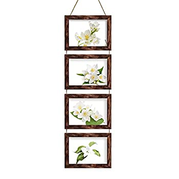5x7 Picture Frames Collage with 4 Opening Rustic Brown Frames
