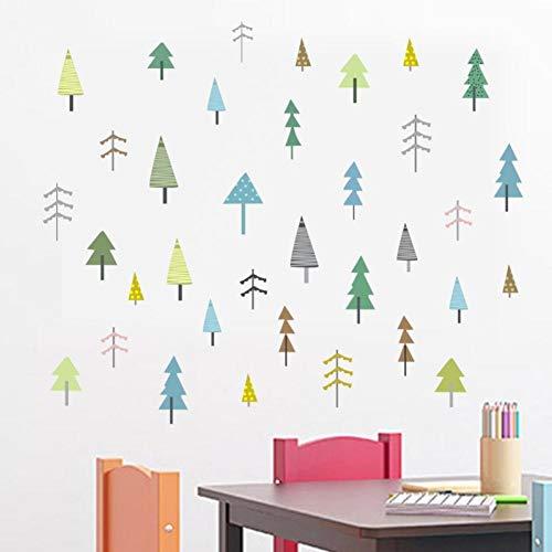 WLYUE DIY Wandsticker Wandtattoo Wandbilder Wandaufkleber Blumen selbstklebend Wall Stickers Decal,Badezimmer Flur Badezimmer Wohnzimmer Schlafzimmer Sticker Aufkleber, Baumsetzling