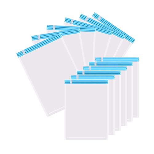 GQC 衣類 圧縮袋 あっしゅく袋 12枚セット手巻き 掃除機不要 防塵防湿 防虫防カビ 繰り返し使用出来 衣替え収納 旅行 引越し 出張 家庭 Mサイズ(60*40cm*6) Sサイズ(50*35cm*6)…
