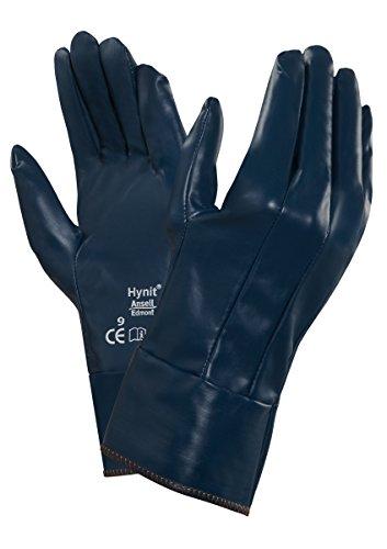 Ansell Hynit 32-800 Guanto Oleorepellente, Protezione Meccanica, Blu, Taglia 10 (Sacchetto di 12 Paia)