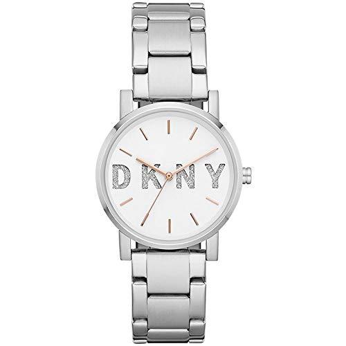 DKNY Damen Analog Quarz Uhr mit Edelstahl Armband NY2681