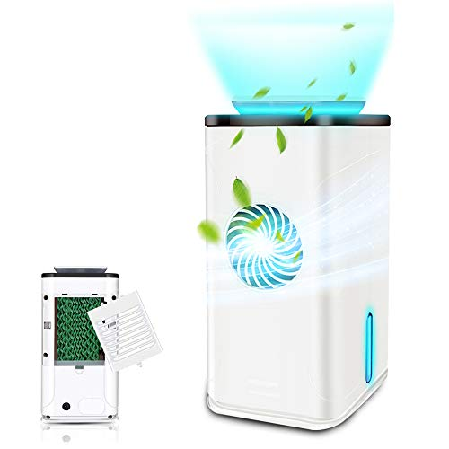 Best Buy! Wooyo Air Purifier UV-C Sanitizer Cleans Air, True HEPA Filter with Smart Touch Screen, He...