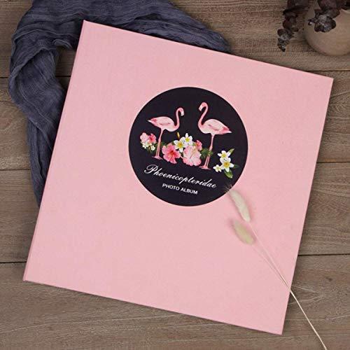 L.BAN Álbum de Fotos Autoadhesivo en Barra, 40 páginas, álbum Familiar Rosa para Bricolaje, Cubierta de Gamuza, para bebé WedFamily