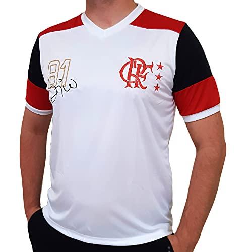 Camiseta Flamengo Retrô - Zico - Branco - G