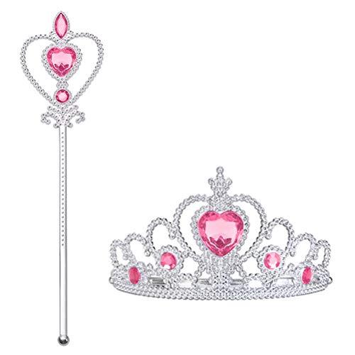 Vicloon Accesorios de Vestir Princesa: Corona, cetro. Cosplay, Carnaval Fiesta de cumpleaños...