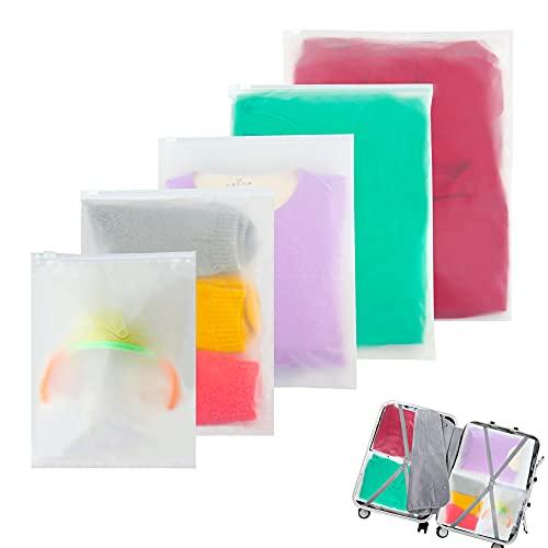 Bolsa de plástico con Doble Cara Bolsa de Cremallera Impermeable Transparente Bolsa de Ropa (Mezcla)