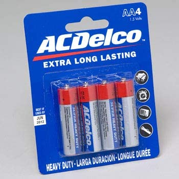 Batteries AC Delco AA 4 Pack Heavy Duty Max 81% OFF Card Blister Case High quality new on of