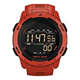 Gymqian Hombres Smart Watch Relojes Deportivos para Hombres Tiempo Dual Pedómetro Reloj Despertador a Prueba de Agua 50M Reloj Digital Reloj, B Gama alta/C