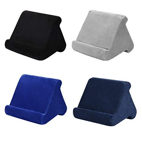 Weicher Tablet-Kissenständer für iPad, Handykissen, Schoßständer, Tablet-Ständer, Kissen-Halter, für Bett, Schreibtisch, Auto, Sofa, Schoß, Boden, Couch, mehrwinkeliges weiches Kissen (schwarz)