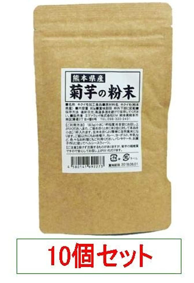 ガレージ拡大するカヌー熊本県産 菊芋の粉末 エヴァウェイ 80gX10個セット
