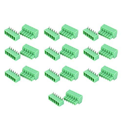 10 coppie di morsettiere morsettiera a 6 pin maschio femmina PCB morsettiera a vite 15 EDG 3.81mm modulo di distribuzione terminale preisolato