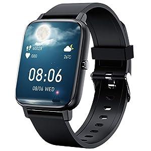 「2021新時代1.69フルタッチスクリン」スマートウォッチ Bluetooth5.2 HD大画面 音楽制御 着信電話通知/アプリ通知 多機能 消費カロリー IP67防塵防水 長い待機時間 日本語対応 レディース メンズiOS/Android対応