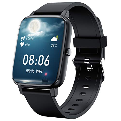 「2021新時代1.69フルタッチスクリン」スマートウォッチ Bluetooth5.2 HD大画面 音楽制御 着信電話通知 アプリ通知 多機能 消費カロリー IP67防塵防水 長い待機時間 日本語対応 レディース メンズiOS Android対応