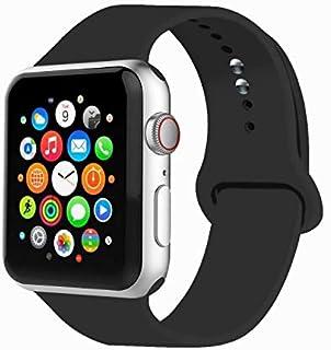 IYOU Correa deportiva compatible con reloj de 1.496in, 1.654in, 1.575in, 1.732in, correa de silicona suave de repuesto compatible con 2018 Watch Series 4/3/2/1