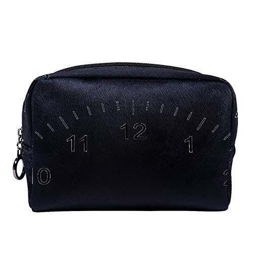 Bolsa de cosméticos Bolsa de Maquillaje para Mujer para Viajar Llevar cosméticos Cambiar Llaves, etc.,Números de Reloj