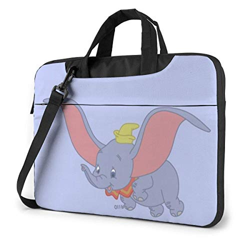 Lsjuee 15.6 Inch Laptop Bag Flying Cute Dumbo Laptop Briefcase Shoulder Messenger Bag Case Sleeve
