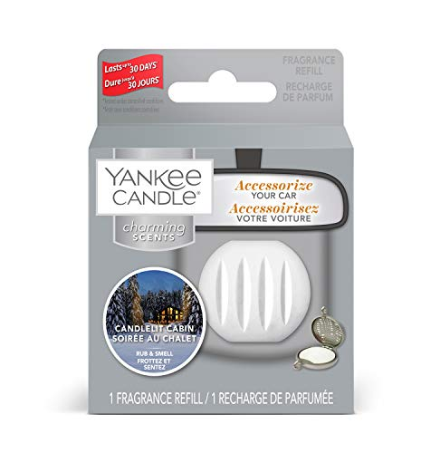 Yankee Candle Charming Scents Car Air Freshener Refill, Candlelit Cabin, Alpine Christmas Collection