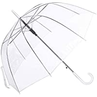 Paraguas Cúpula Transparente Mujer. Paraguas Burbuja Infantil, Paraguas Original Largo, Niño y Niña 80cm