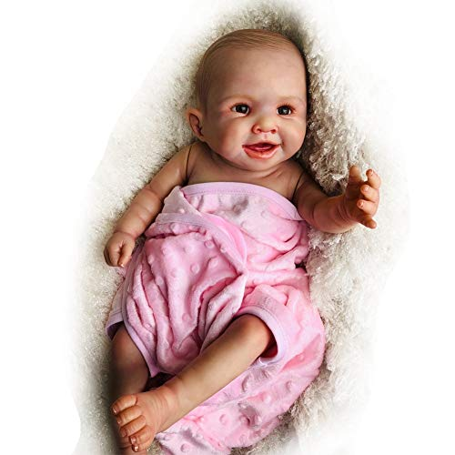 Hongge Reborn Baby Doll De Vinilo Completo De Silicona, BebéS ReciéN Nacidos Realistas para BebéS De Regalo De 20 Pulgadas / 52 CM