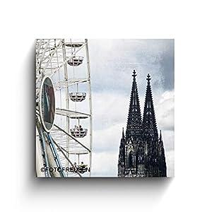 Der Dom und das Riesenrad – Köln Bilder – Foto auf Holz – Handmade – verschiedene Größen