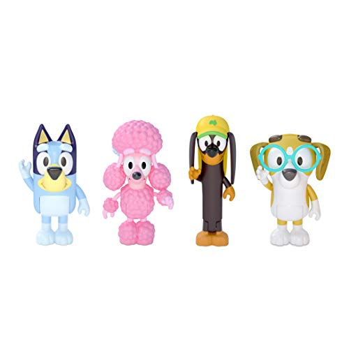 Bluey and Friends 4 Pack of 2.5-3' Poseable Figures
