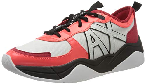 Armani Exchange Damen Sneaker, Mehrfarbig (ORANGE+Coral D957), 39 EU