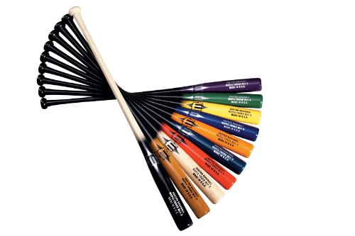 EASTON MLF6 Maple Fungo Wood Baseball Bat | 34 inch | Black / Red | 2020 | Handcrafted in USA