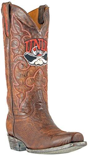 NCAA UNLV Rebels Herren Boardroom Style Boots, Herren, NLV-M202, Messing, 12