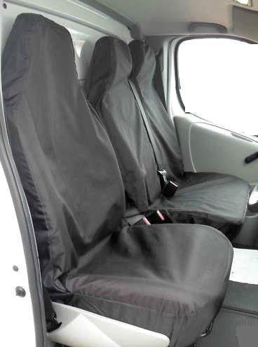 Fundas de asiento universales para furgonetas en negro, para uso muy intenso, de XtremeAuto®