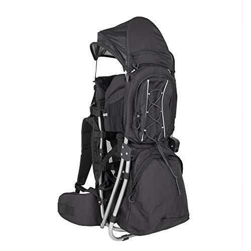 G-on - Mochila portabebés estable para bebés y niños de hasta 25 kg, peso ligero, gran comodidad, para senderismo, trekking, viajes, portabebés, color negro