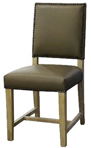 ARTeFAC R-4500D Top Grain Taupe Leather Dining Chair