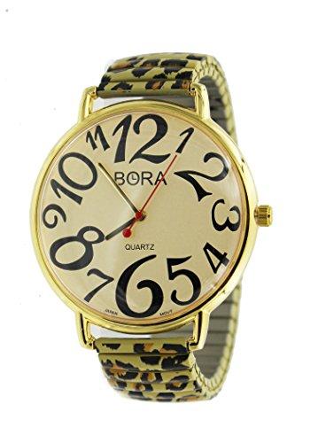Crystals Leopard Fashion Geneva Women's Celebrity Bracelet Watch