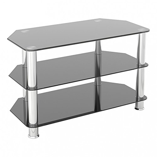 King Glass TV Stand for HD LED LCD 4K 8K QLED TVs up to 42