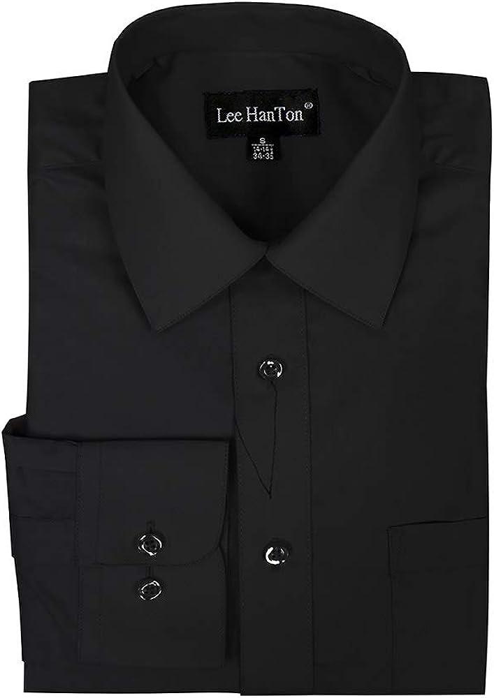 LeeHanTon Men's Dress Shirts Regular Fit Long Sleeve Business Casual Button Down Dress Shirts for Men