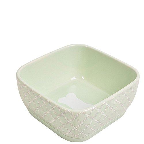 Pet Online Pet Supplies Bowl de cerámica para perro y gato, 15 * 15 * 7.5cm, blanco