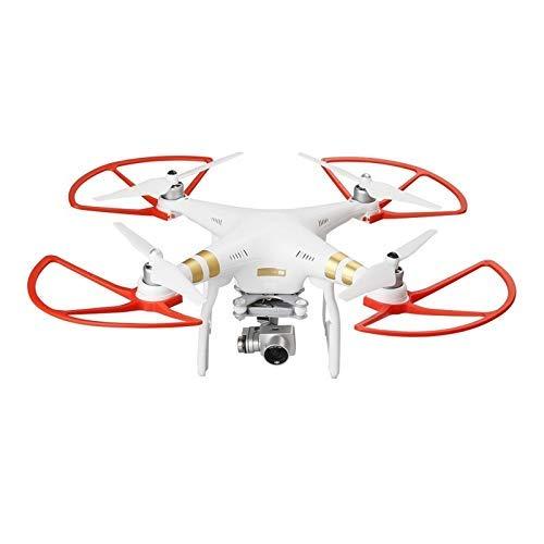 GzxLaY 4Pcs Elica Guard Anello Protezione Paraurti per DJI Phantom 1 2 3 Phantom 3 Standard Professional/Advanced Drone Wing Accessori (colore : Bianco) (Colore: Rosso