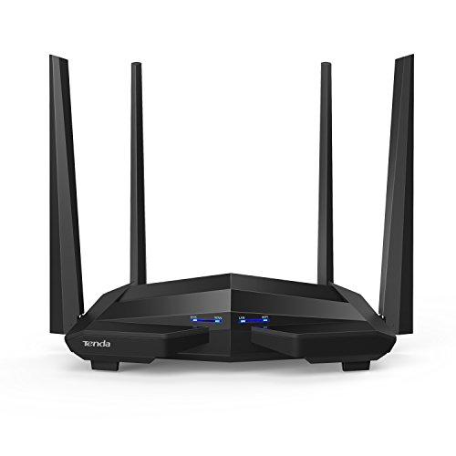 Tenda AC10U Gigabit Router Wi-Fi Dual Band AC1200 Wireless, 4 Porte Gigabit, 1 Porta USB 2.0, Parental Control e Rete Ospiti, IPTV, VPN Server, IPv6, WPS, Adatto per Case a Un Piano