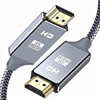 HDMIケーブル 2m ハイスピード HDMI CABLE 最新 HDMI規格 Ver2.0 HDMI-HDMI ケーブル1080p 3D 4K スーパースリム グレー