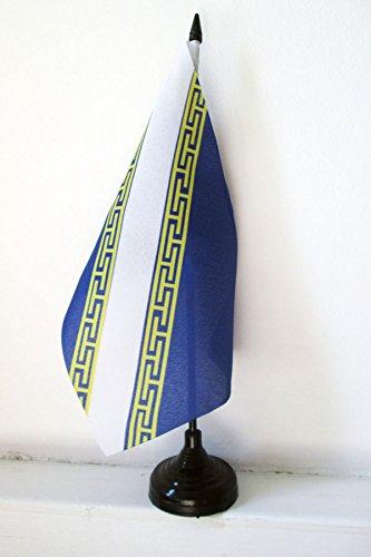 AZ FLAG Drapeau de Table Champagne-Ardenne 21x14cm - Petit Drapeaux DE Bureau Province champenoise 14 x 21 cm