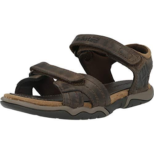Timberland Oak Bluffs Leather 2 Strap (Junior), Sandales Bout Ouvert Mixte, Marron Dark Brown Nubuck, 36 EU