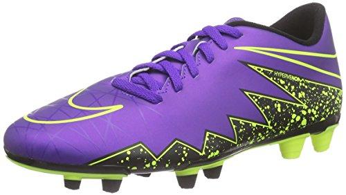 New Nike Men's Hypervenom Phade II FG Soccer Cleat Grape/Volt 10.5