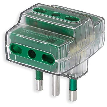 Vimar RI.00321F Adattatore elettrico multiplo a 3 uscite S17+3P17/11 fumé