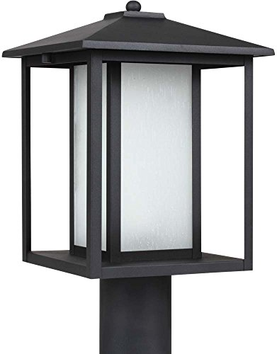 Sea Gull Lighting 89129-12 Hunnington One Light Outdoor Post Lantern, Black