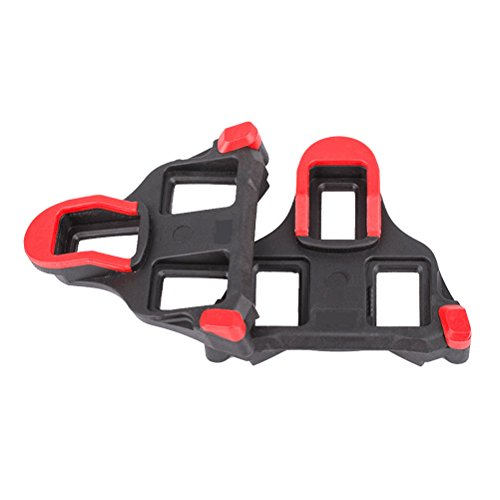 Winomo, set di tacchetti per pedali compatibili con bicicletta indoor Look Delta, tacchetti durevoli per ciclismo professionale indoor, ciclismo da strada, colore rosso, sistema float 9gradi