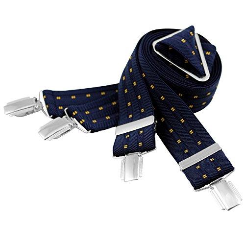 Lindenmann Mens Braces/Suspenders/mens suspenders, X-shape, 35 mm stetch, XXL, navy blue, 7457-001, Größe/Size:110