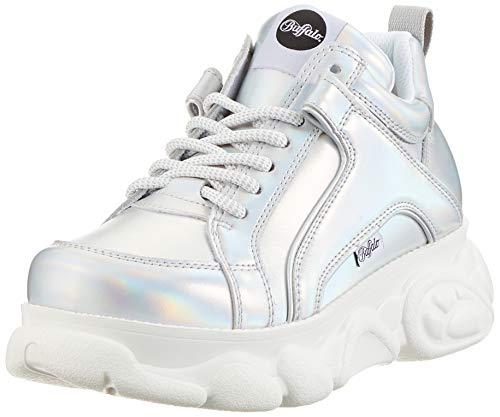 Buffalo Damen Corin Hohe Sneaker, Grau (Silver 000), 38 EU