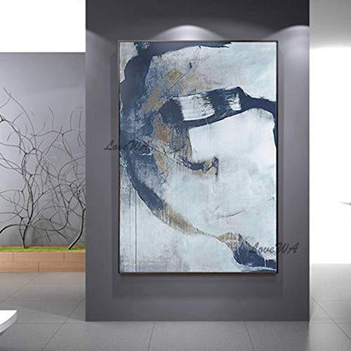 ZNYB Cuadro Decoracion Lienzo Arte de Pared Pintado a Mano Pintura al óleo decoración del hogar Abstracto sobre Lienzo Obra de Arte Pintada a Mano para habitación sin Marco