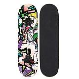 Skateboards Shortboard Entry-Level Skateboard Double Rocker Skateboard Four-Wheel Skateboard Graffiti Hand