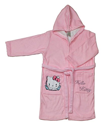 Hello Kitty Angels Albornoz Infantil, Talla 4, Microfibra,